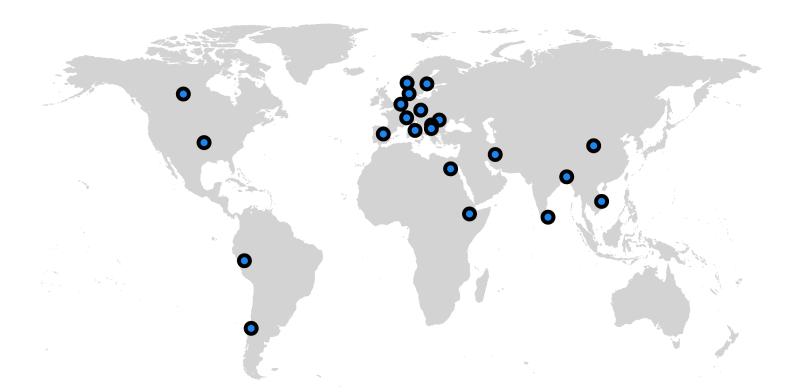 The Inspera World Map